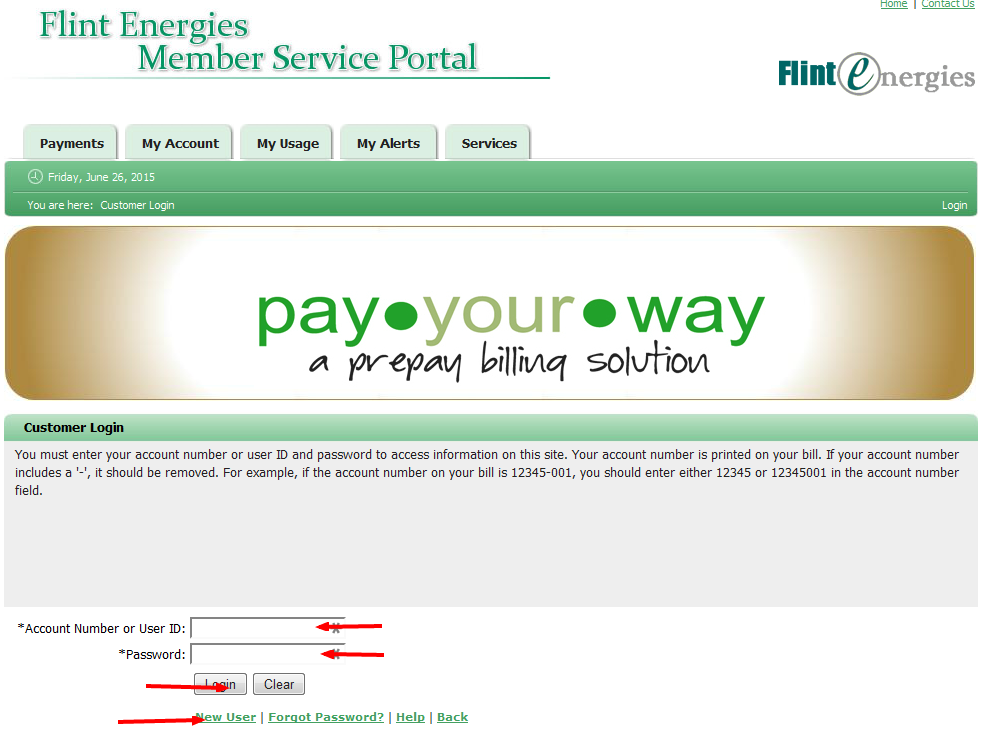 Flint Energies Bill Pay