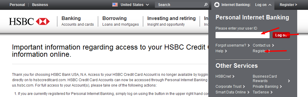HSBC Bill Pay